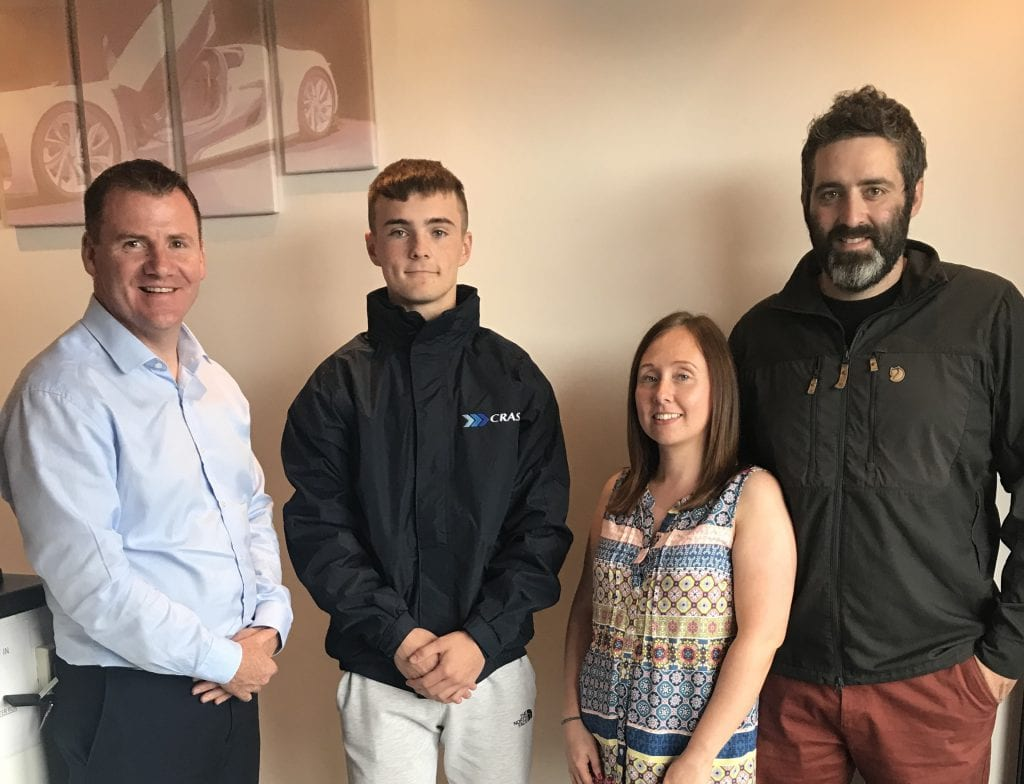 CRASH Bodyshop Apprentice scholarship award Greenisland Body Repair Centre