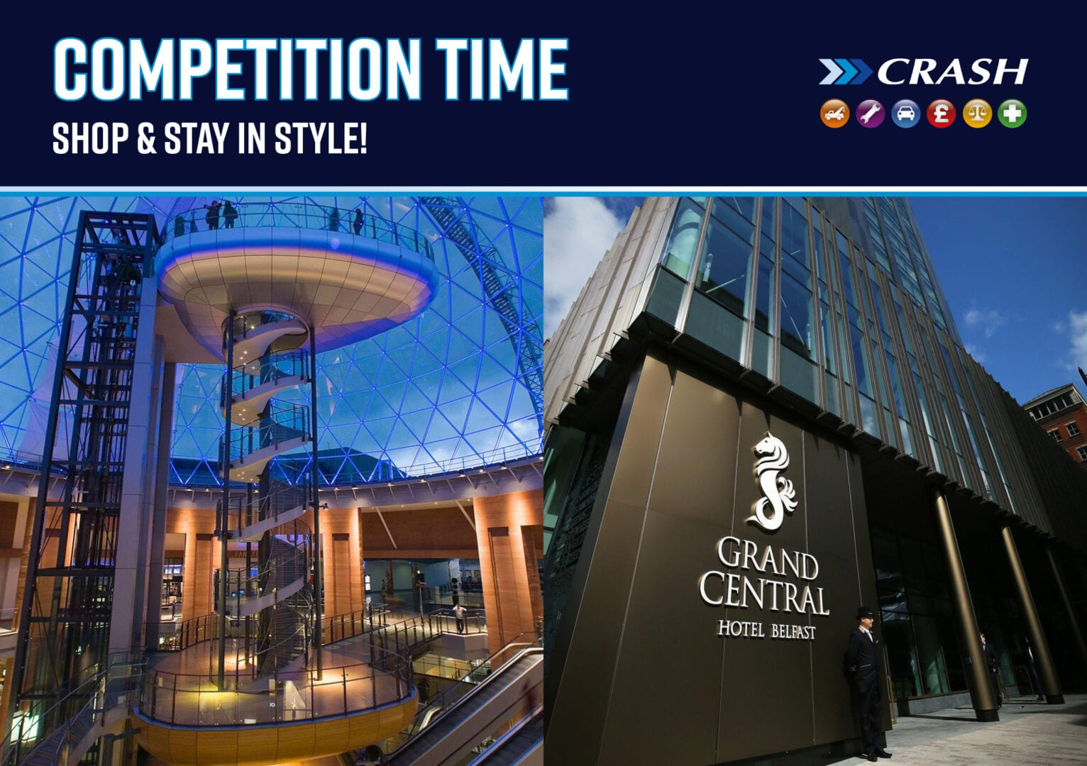 competition time shop and stay in style crash services
