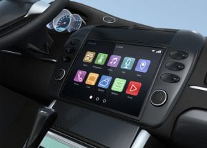souch screen car with bluetooth enabled apps