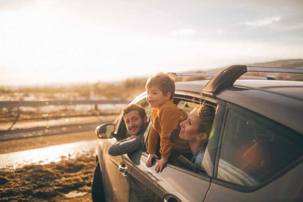 crash services - family in a car going on a journey