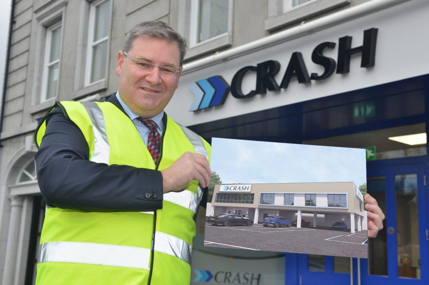 Jonathan McKeown holding Stockmans Lane Belfast development plans