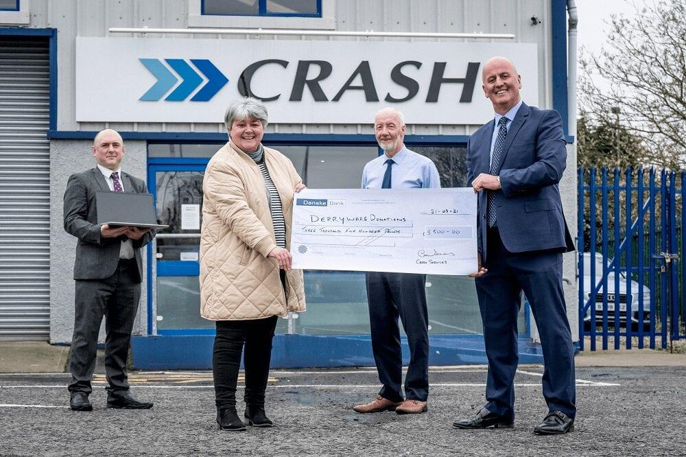 Crash Services donates to Derry school equipment scheme