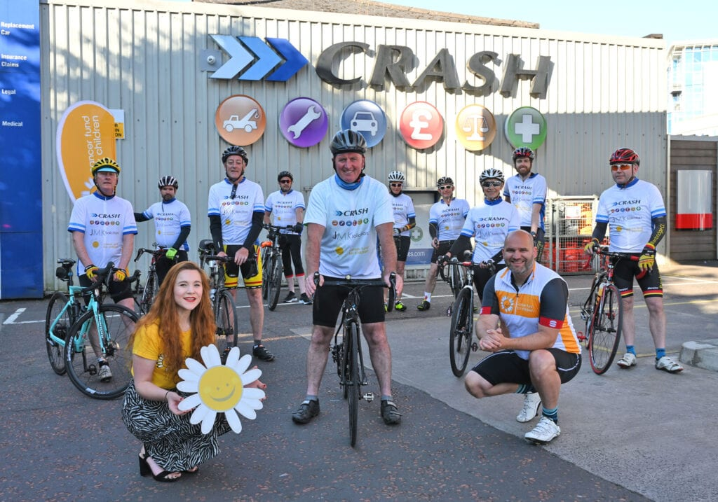 CRASH Services cycle raises over £9,000 for Cancer Fund for Children