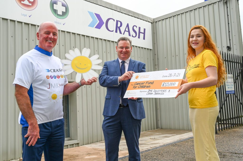 CRASH Services reaide 13k for Cancer Fund For Children