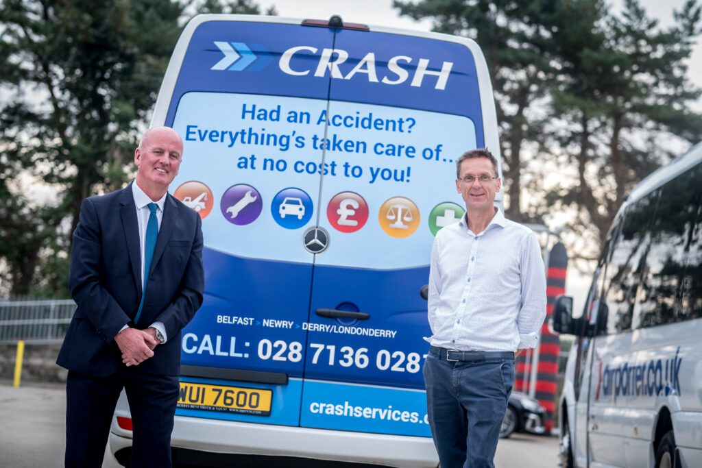 CRASH Services with branded Airporter bus