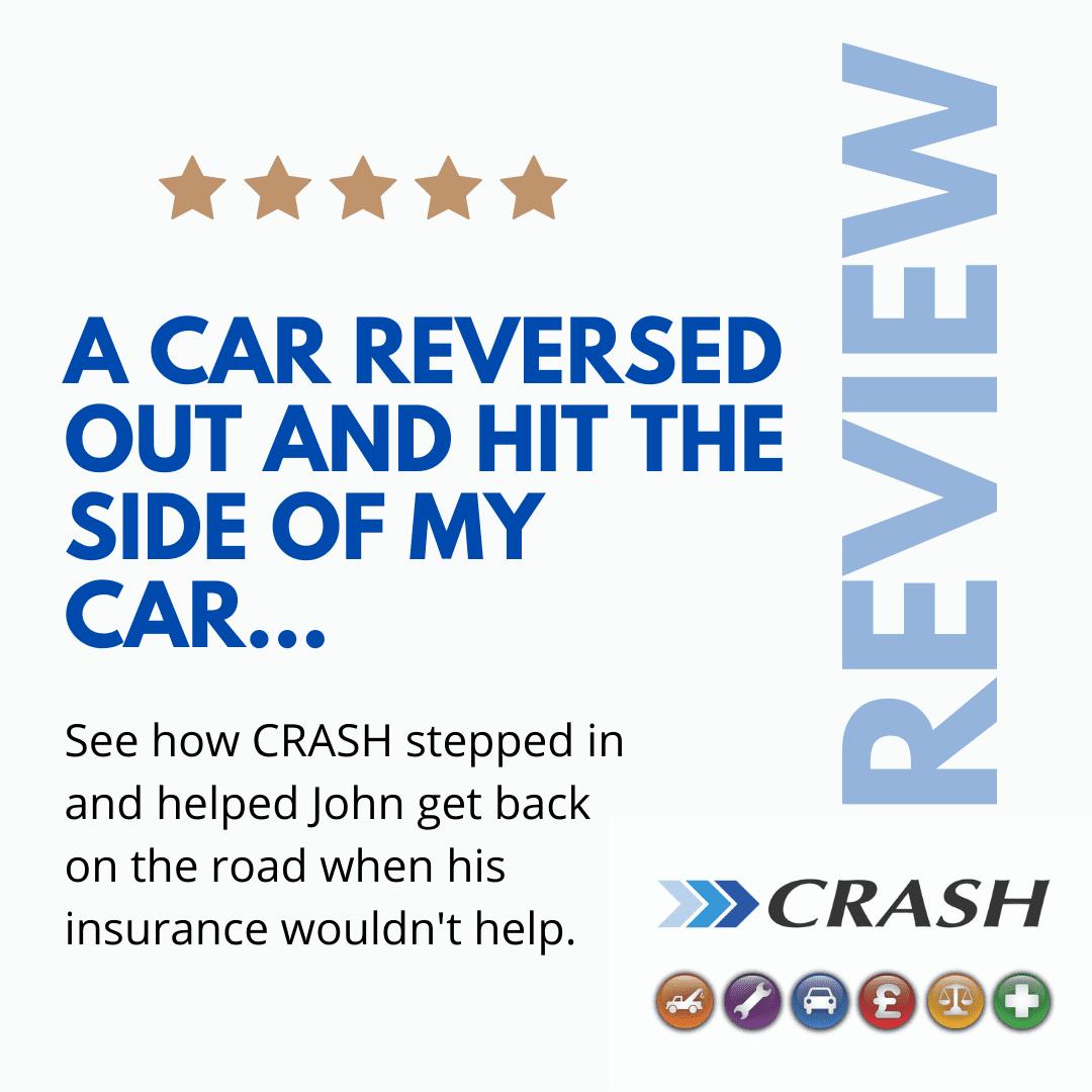 John McKeating Customer Testimonial CRASH Services car hit