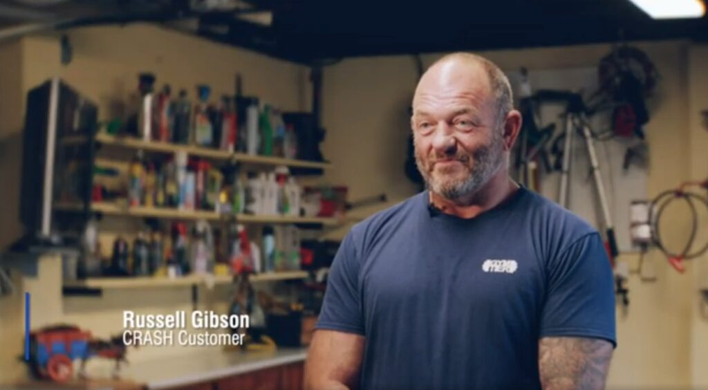 Russell Gibson Customer Testimonial for CRASH Services